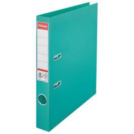 Biblioraft ESSELTE No. 1 Power, A4, plastifiat PP/PP, margine metalica, 50 mm - turcoaz