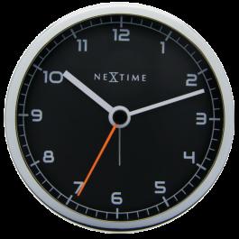 Ceas desteptator, 9x9x7,5 cm, cifre arabe, metal, NeXtime -