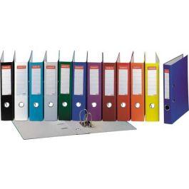Biblioraft ESSELTE Economy, A4, plastifiat PP, margine metalica, 50 mm - portocaliu